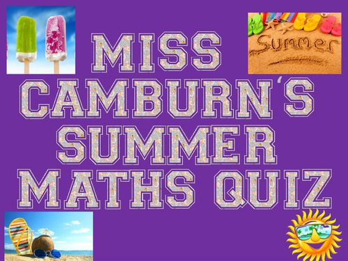 Maths Summer Quiz