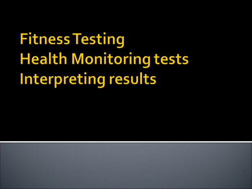 Health Screening and Testing