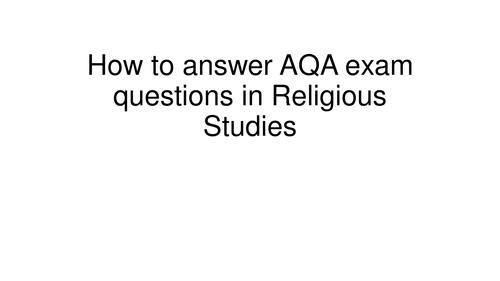 AQA exam style questions Religious Studies