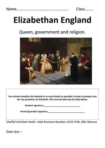 Elizabethan Revision Booklet GCSE
