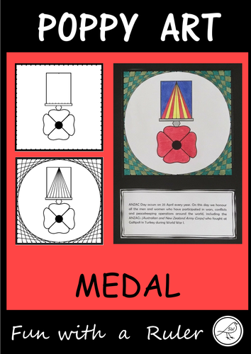 Poppy Art – ANZAC Day, Remembrance Day, Memorial Day, Armistice Day, etc   (Design C)
