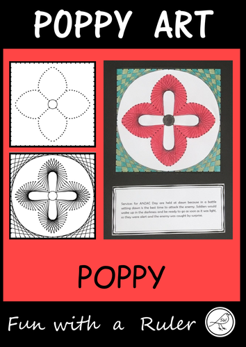 Poppy Art – ANZAC Day, Remembrance Day, Memorial Day, Armistice Day (Design D)