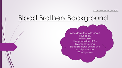 Blood Brothers Full Scheme of Work