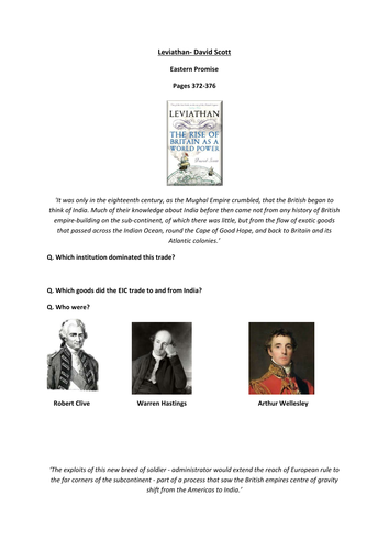 Gaining & Losing an Empire - Leviathan: D.Scott - Worksheet to support Chp 7 - Eastern Promise