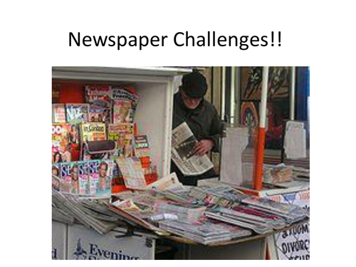 End of Term 10 Newspaper Challenges!