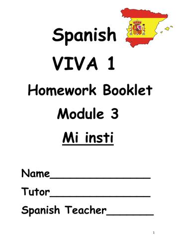 Y7 Mi insti (Revision booklet)