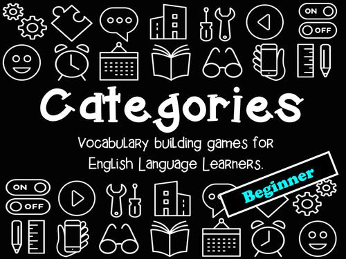 Categories: Vocabulary Building Game (Beginner Level)