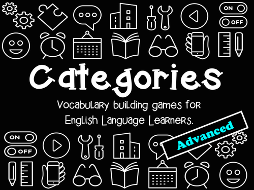 Categories: Vocabulary Building Game (advanced level)