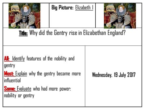 AQA 8145 Elizabeth I - Rise of the Gentry