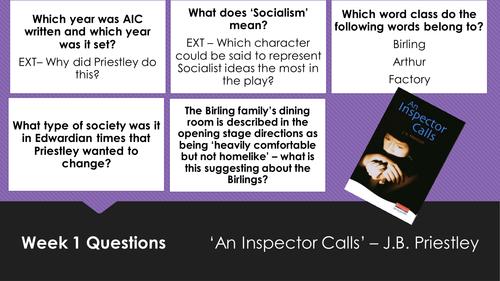 An Inspector Calls - 5 a day starters