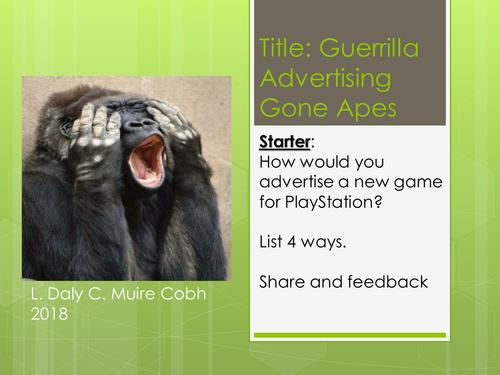 Advertising - Guerilla Marketing An Introduction