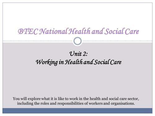 unit 2 btec health and social