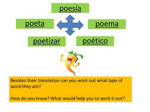 Spanish poetry and techniques/ intro ks3
