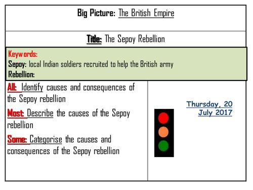 British Empire - Sepoy Rebellion
