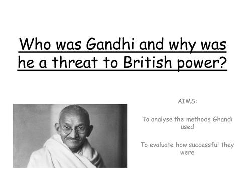 British Empire - Gandhi and Independence
