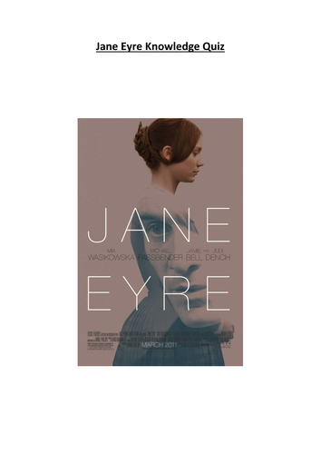 Jane Eyre Knowledge Quiz