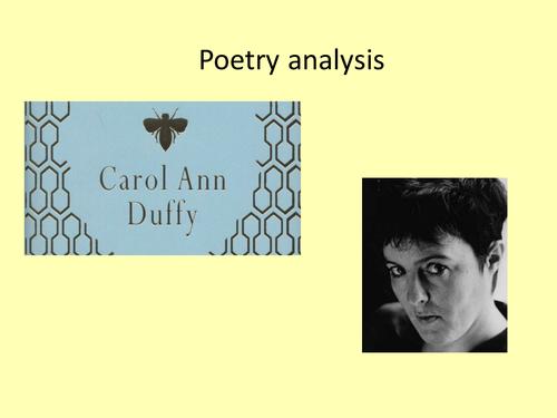Carol Ann Duffy Poetry