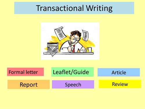 Transactional Writing