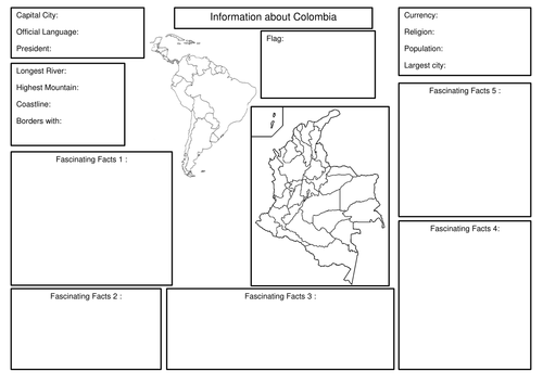 All About Colombia - research template