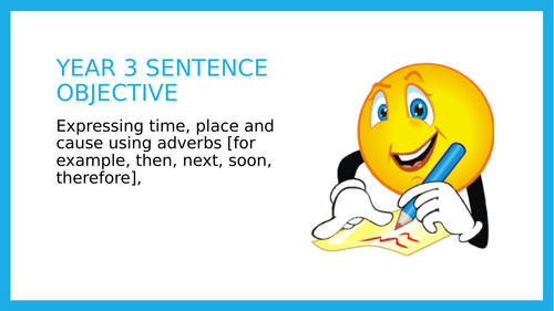 Year 3 SPAG PPT:  Adverbs of time, place and cause