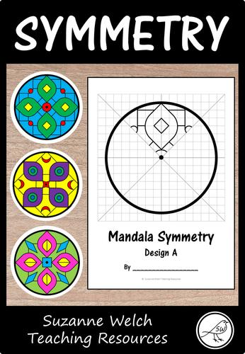 Math Art – Rotational Symmetry – Mandala Patterns