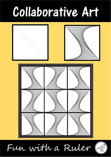 Math Art – Parabolic Curves – Collaborative Project