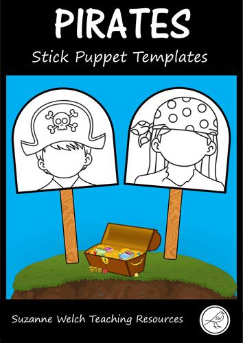Pirates - Stick Puppet Templates