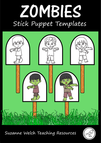 Zombies - Stick Puppet Templates