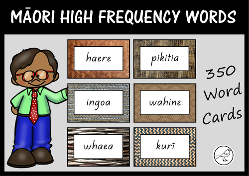 Māori High Frequency Words – 350 word cards