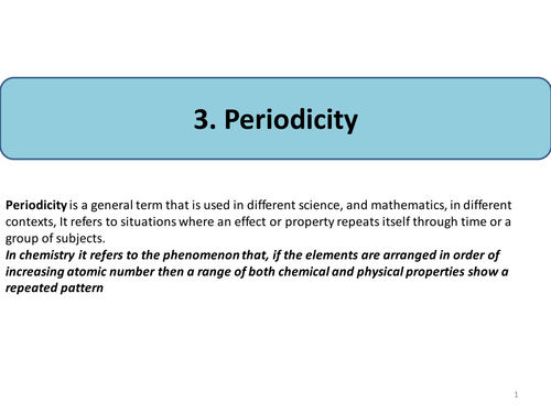 presentation with questions on periodicity