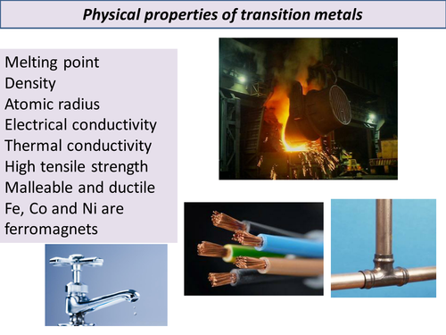 transition metals periodicity and bonding