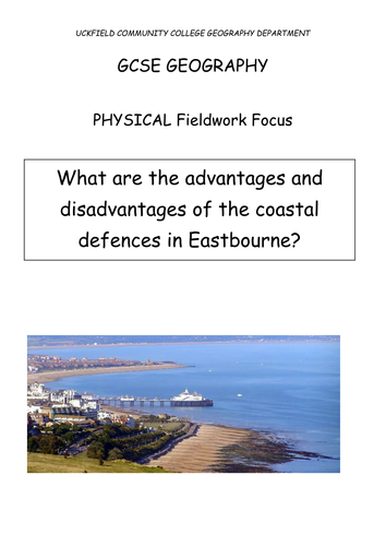 AQA Geography (2016-) - Physical fieldwork whole unit of work  (Eastbourne, coasts) - easy adapt