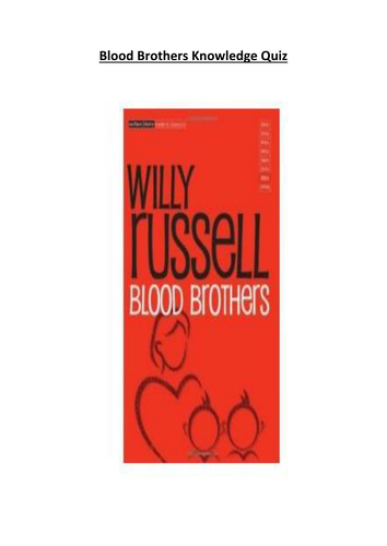 Blood Brothers Knowledge Quiz