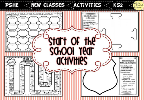 Transition / Start of the School Year / Back to School Activities
