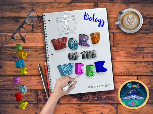 Biology Word of the Week - JUNE