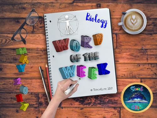 Biology Word of the Week MAY