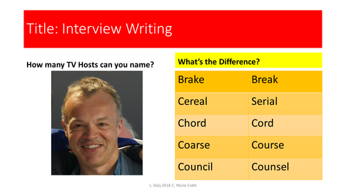 Interview Writing