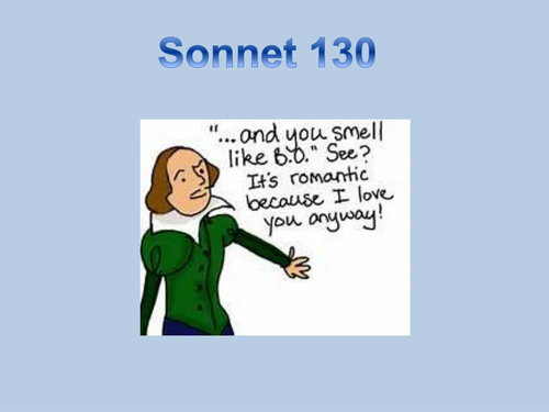 Introduction to Sonnet 130 for KS3