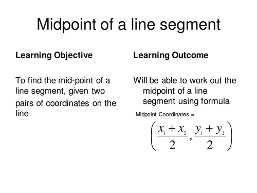 Finding mid-point of a line segment