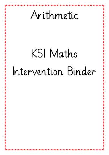 KS1 Arithmetic Intervention Binder
