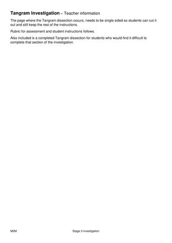 Tangram Investigation