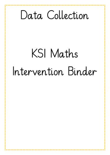 KS1 Data Collection Intervention Binder