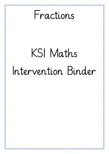 KS1 Fractions Intervention Binder