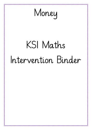 KS1 Money Intervention Binder