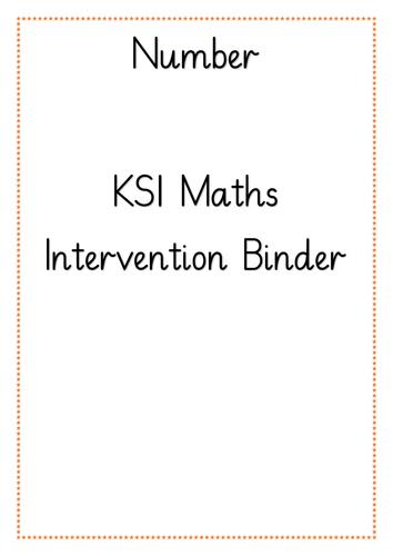 KS1 Number Intervention Binder