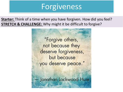 2.6 Forgiveness - Topic: Crime and Punishment through Islam - New Edexcel GCSE