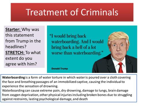 2.7 Treatment of Criminals - Topic: Crime and Punishment through Islam - New Edexcel GCSE