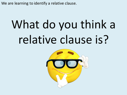 An Introduction to Relative Clauses for KS2