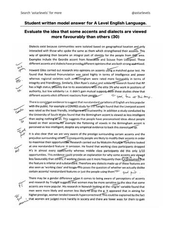 example student essays  a level english language revision bundle