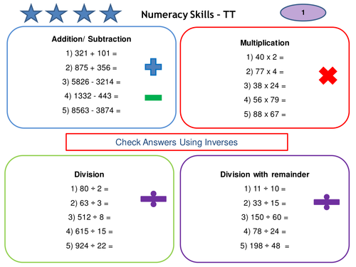 PGCE Numeracy Skills Test - Practise Questions